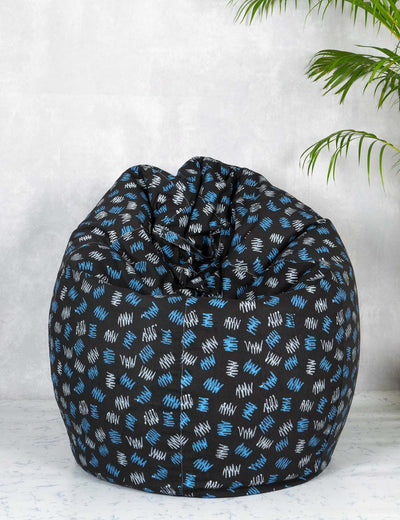 Buy cozy bean bags online pulpypapaya bean bag black bean bag chair at soulcraf.com