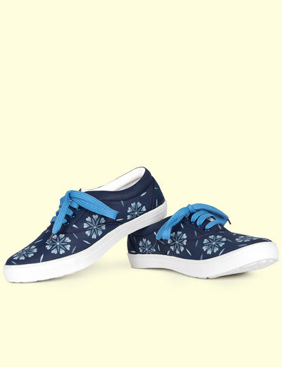 Buy blue canvas female shoes girls online best discount deal at soulcraf.com