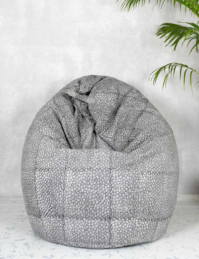 Buy extra large grey bean bag cover skin friendly bean bag for kids quirky bean bag chair online at soulcraf.com