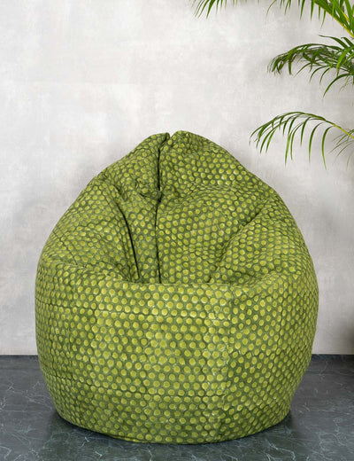 Buy green organic cotton stylish skin friendly bean bag for kids extra large bean bag without beans at soulcraf.com