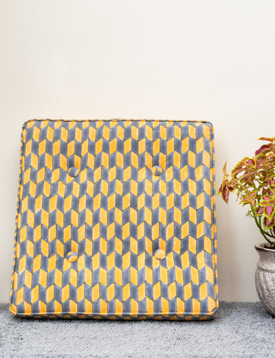 Buy handblock printed floor cushion for reading large square yoga cushion for adults floor cushion online at soulcraf.com
