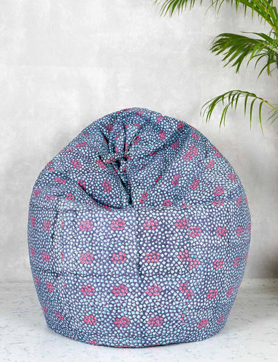 Buy handcrafted block printed bean bag organic cotton bean bag chair for kids online buy extra large bean bag at soulcraf.com
