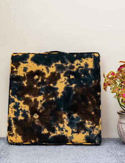 Buy multi color floor cushion pure cotton designer pillow for sitting tie and dye floor cushion online in India at soulcraf.com