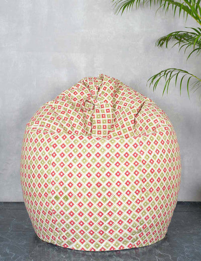 Buy multicolor bean bag cover cotton canvas washable bean bag chair for adults online at soulcraf.com