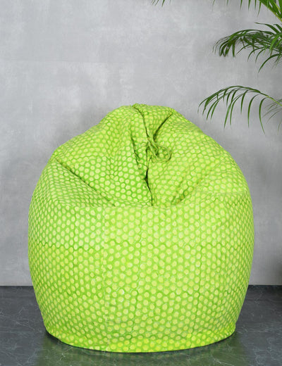 Buy quirky pure cotton yellow classic XXL size bean bag chair cotton farbric bean bag online india at soulcraf.com