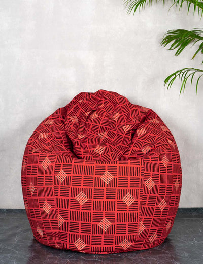 Buy red beang bag chair maroon bin bag online cash on delivery at soulcraf.com