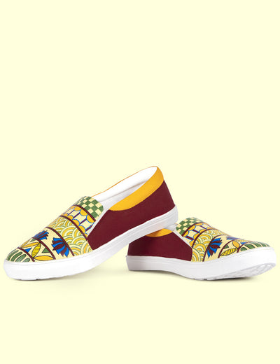 Buy colorful sneakers for girls madhubani art shoes for women at soulcraf.com