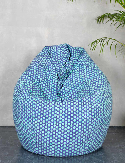 Buy stylish bean bag online quirky bean bag best blue bean bags online at soulcraf.com