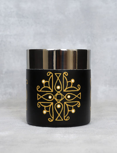 Buy stylish stainless steel coffee mug handpainted by artist coppery mandana india online by soulcraf.com