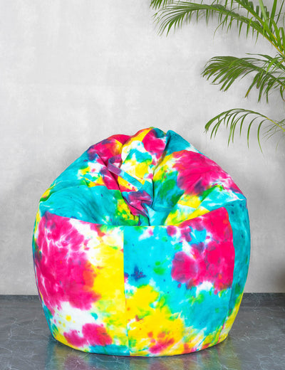 Buy tie and dye bean bag cover online colorful bean bag chair online at soulcraf.com
