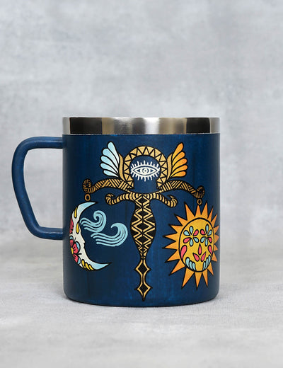 Buy unique and stylish handcrafted metal coffee cups for gifting online at soulcraf.com