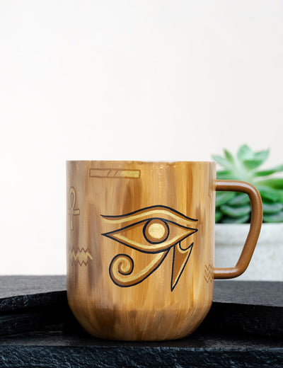 Online buy cream premium handcrafted tea mug giza narrative india by soulcraf.com