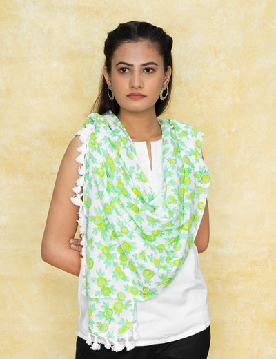 Synthetic batik multi colored crepe scarves indo western shimmer decent ivory checkered face cover head gear at soulcraf.com