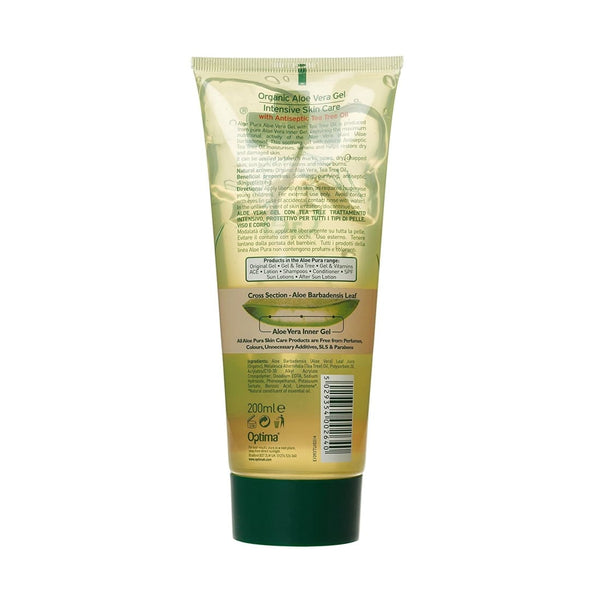 Aloe Vera Gel Plus Tea Tree 200ml