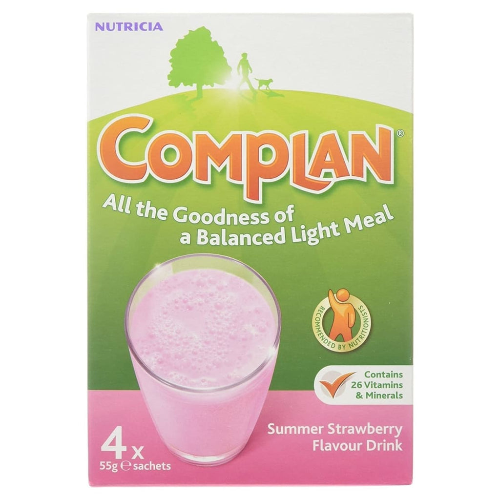 Complan Nutritional Drink Powder Summer Strawberry 4x57g