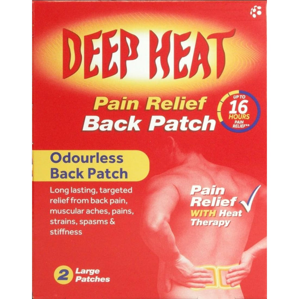 Deep Heat Patch for Back Pain (2 Large Patches)