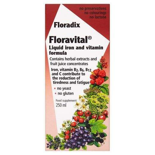 Floradix Floravital Liquid Iron and Vitamin Formula 250ml