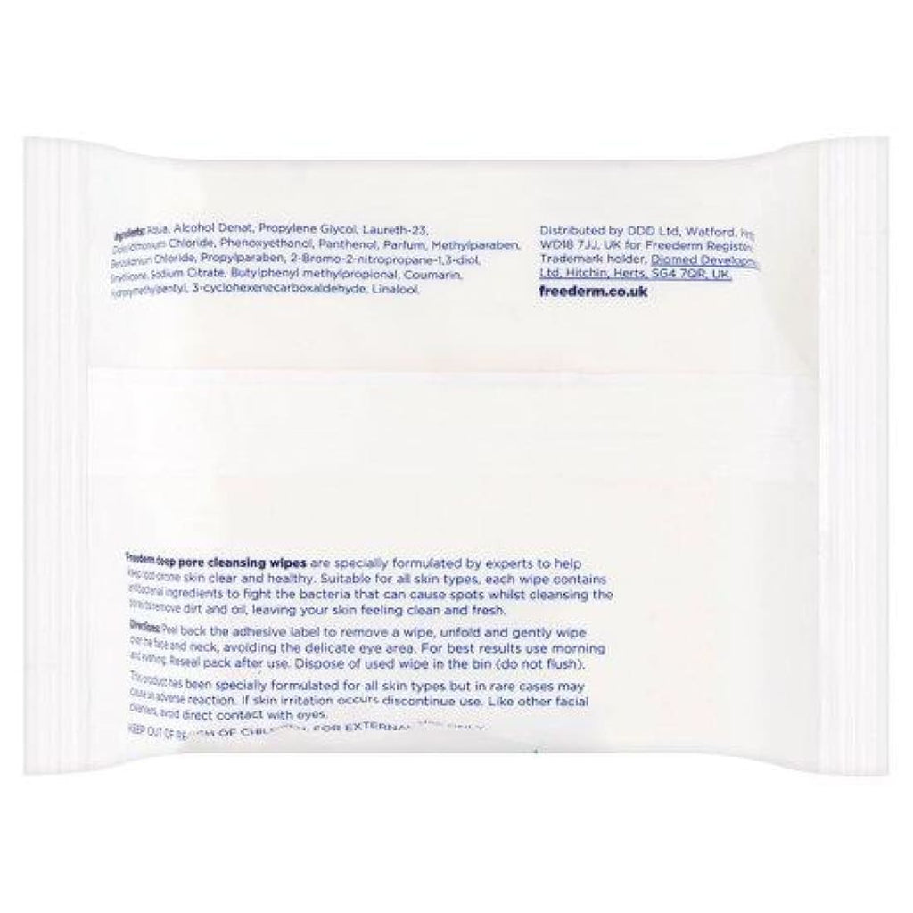 Freederm Deep Pore Cleansing Wipes 25