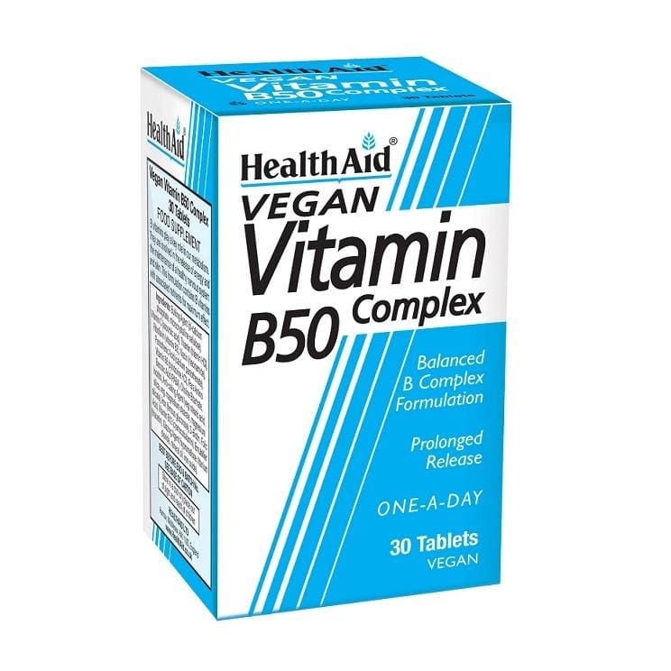 Health Aid Vitamin B50 Prolong Release Tablets 30x
