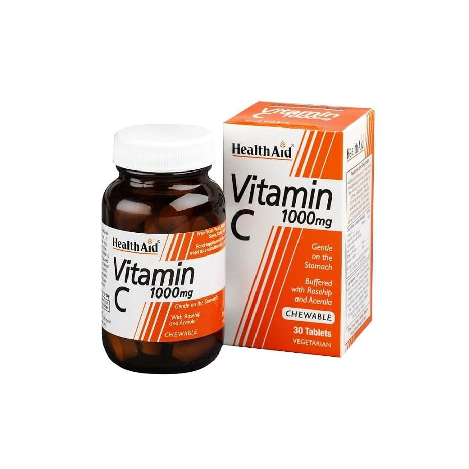 Health Aid Vitamin C 1000mg Chewable Tablets 30's