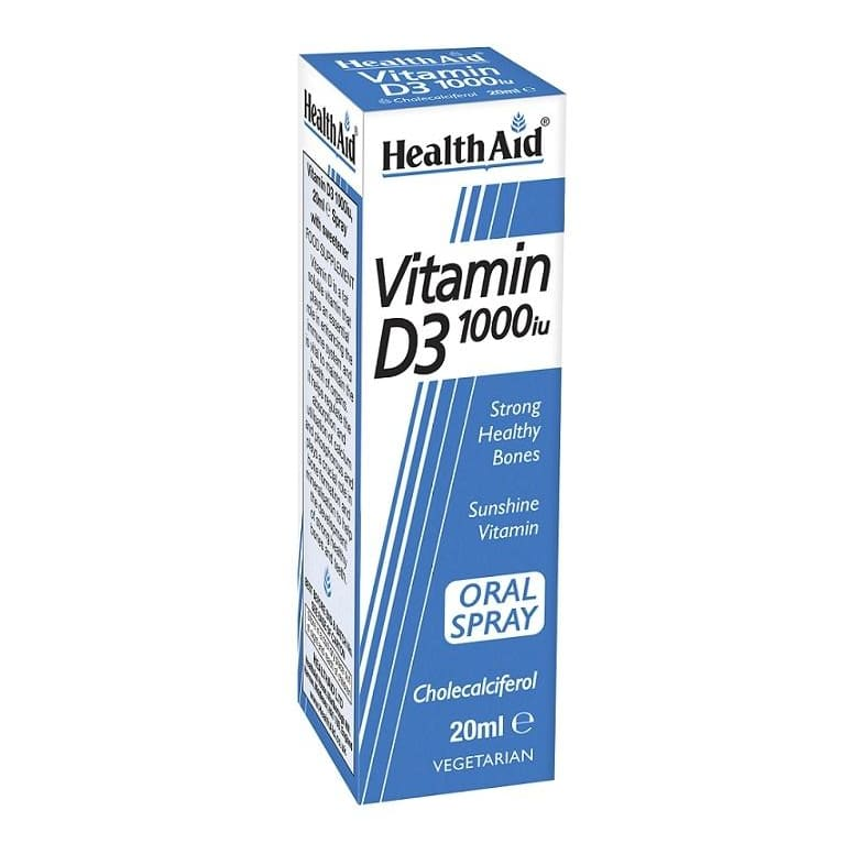 Health Aid Vitamin D3 1000Iu Spray 20ml