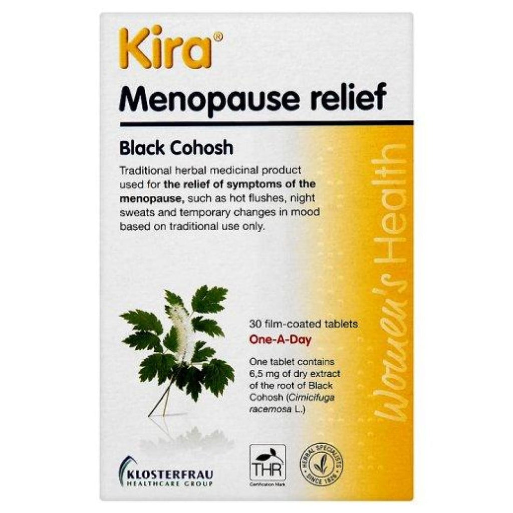 Kira Menopause Relief Black Cohosh 30 Film Coated Tablets