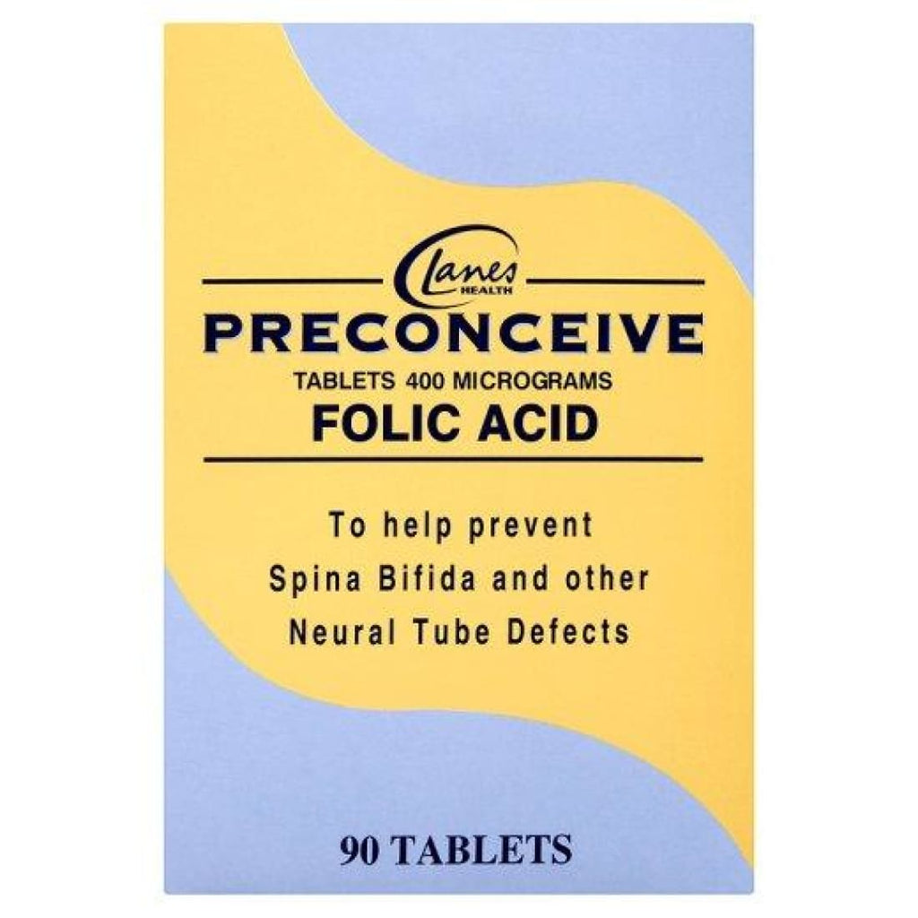 Lanes Health Preconceive Folic Acid Tablets 90
