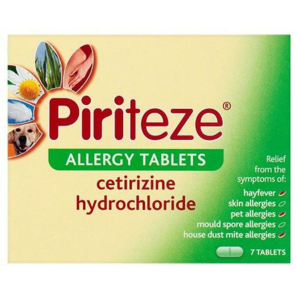 Piriteze Allergy Tablets 7