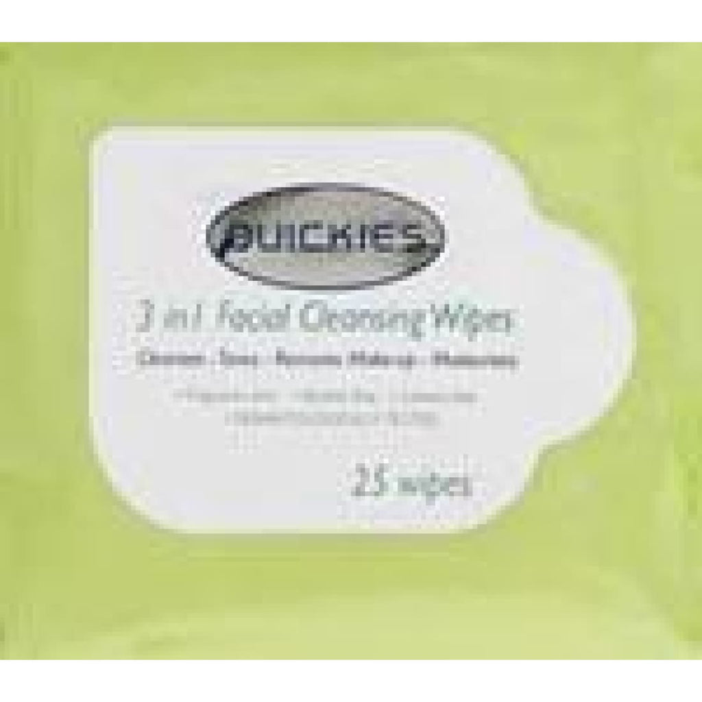 Quickies 3 In 1 Cleansing Wipes 25's