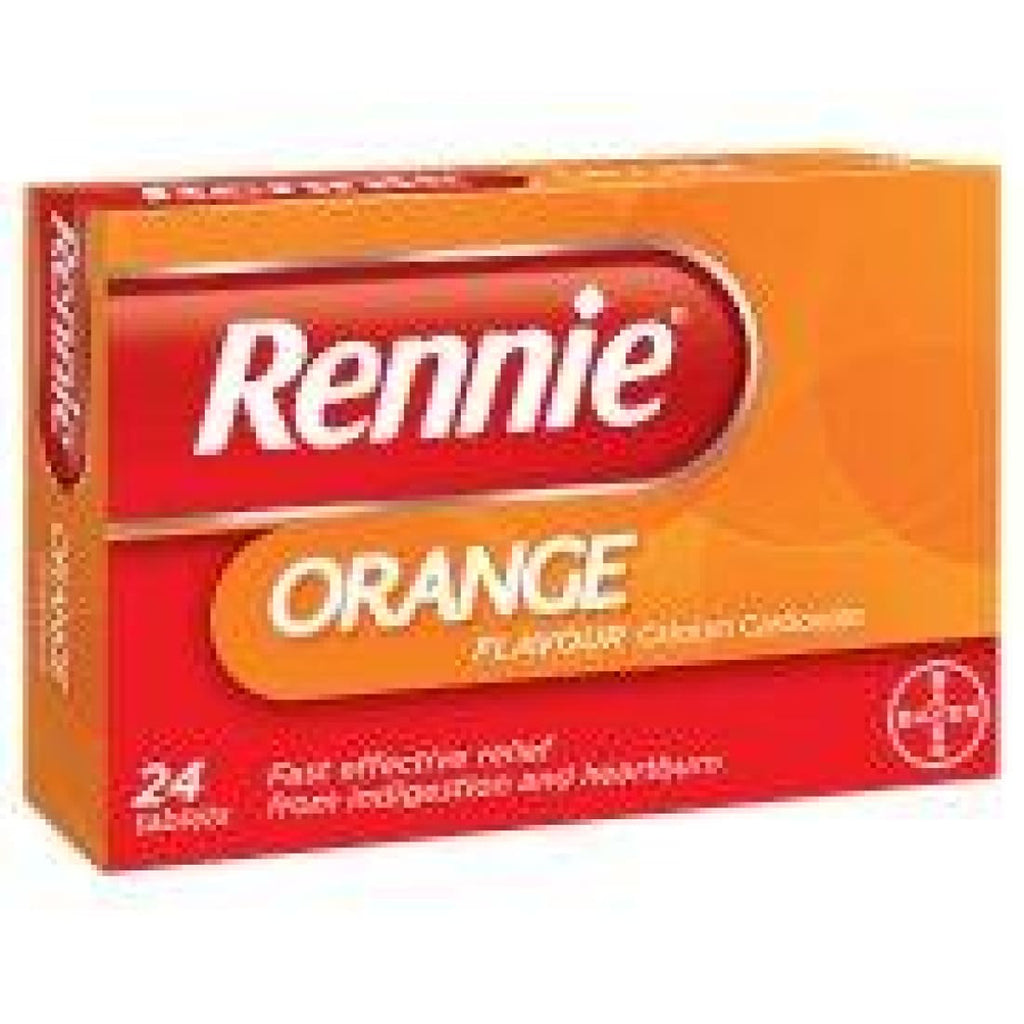 Rennie Orange Chewable 24 Tablets