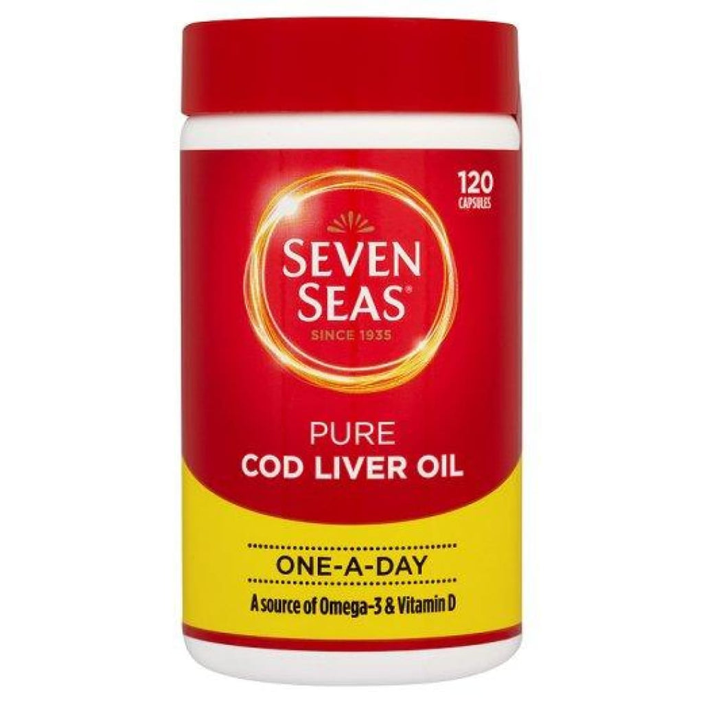 Seven Seas Pure Cod Liver Oil 120 One-a-Day Capsules