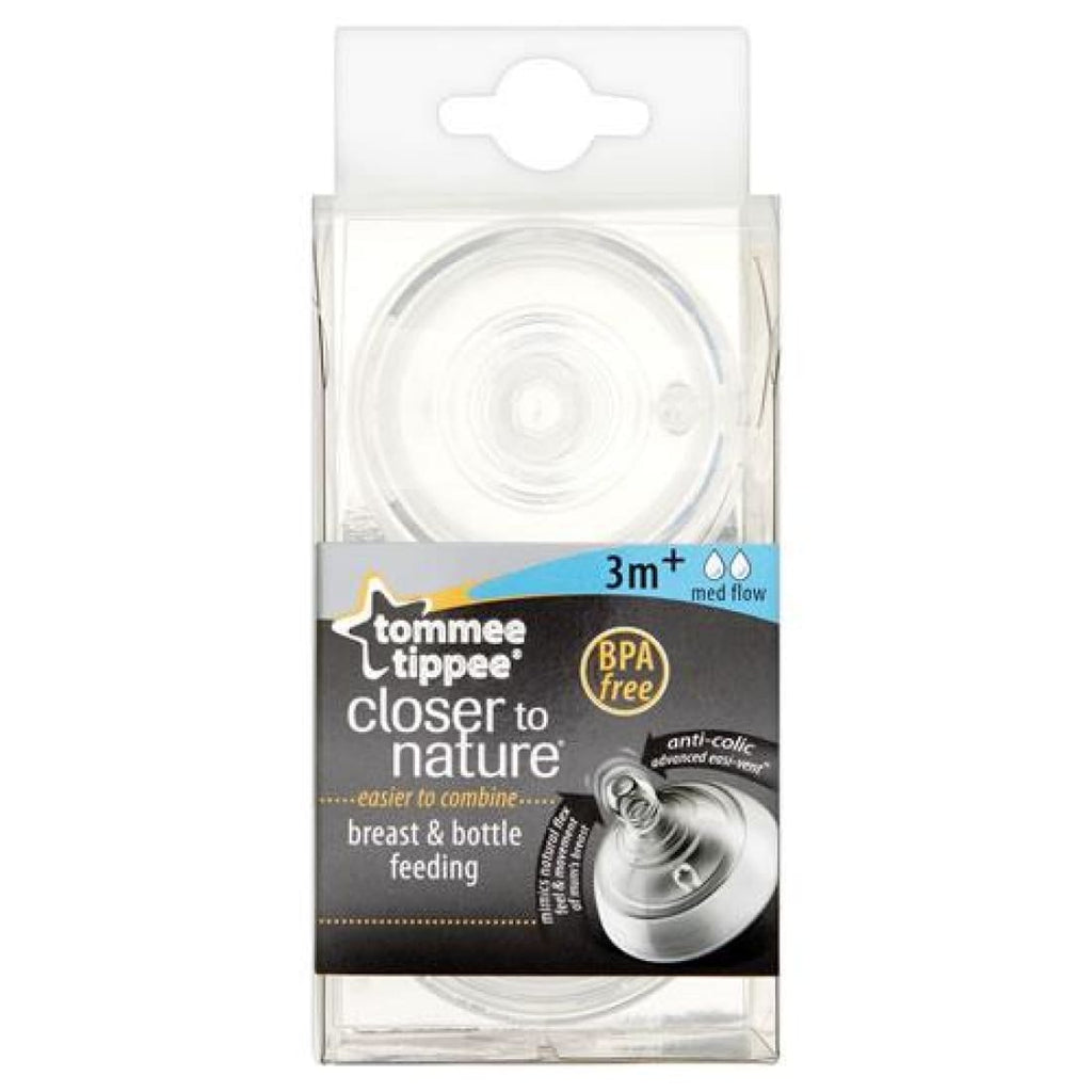 Tommee Tippee Closer to Nature Med Flow Teat 3+ months x2