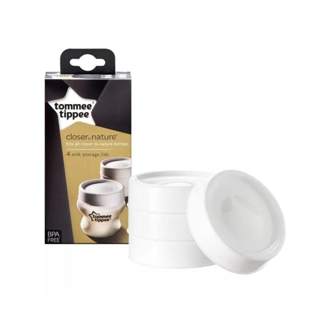 Tommee Tippee Closer To Nature Milk Storage Lids x4