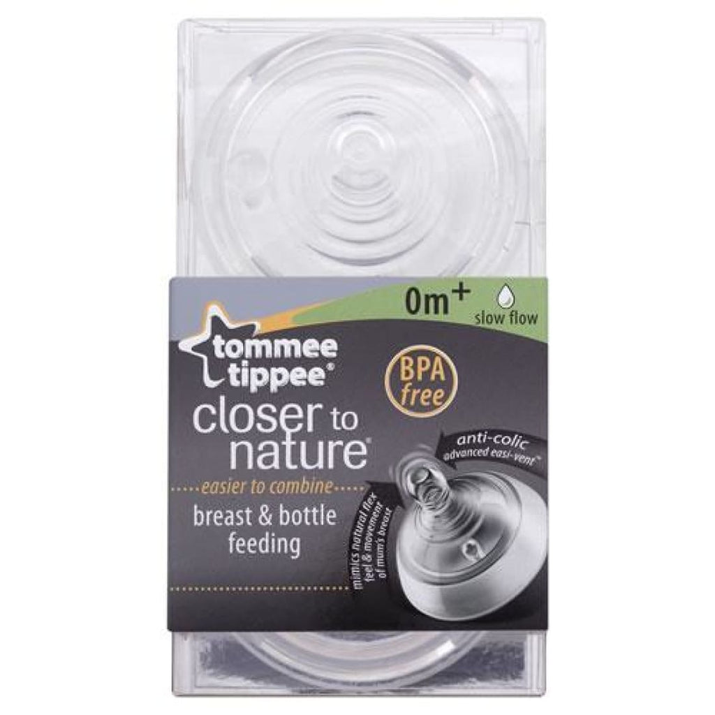 Tommee Tippee Closer to Nature Slow Flow Teat 0+ months x2