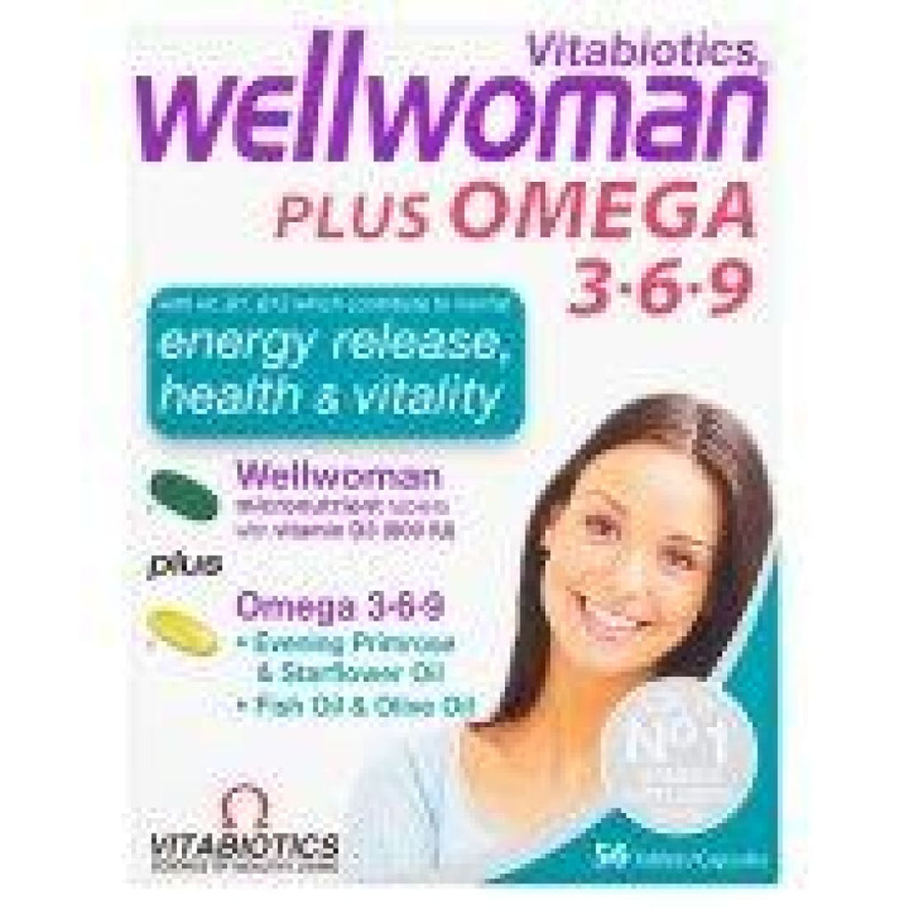 Vitabiotics Wellwoman Plus Omega 3 6 & 9 56 Tablets-Capsules