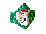 Like Owner, Like Dog! Ho,Ho! Santa Bandana & Facemask (Green)