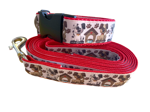 Happy Doggies Collar & Leash