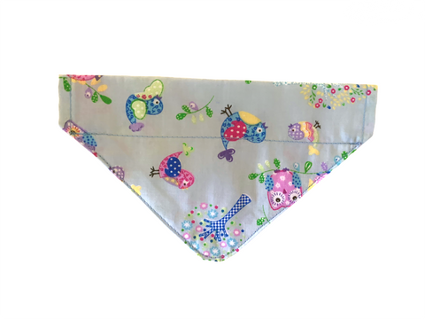 Owls and Birds Collar Insert Bandana
