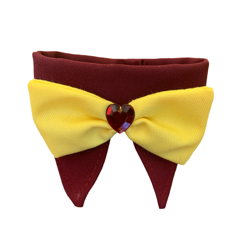 Red Wine Heart & Yellow Bow