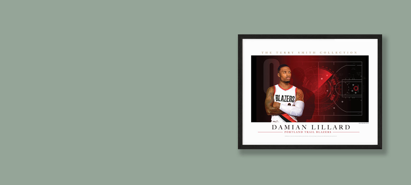 Framed print of Damian Lillard