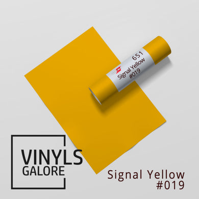 #019 Signal Yellow Oracal 651