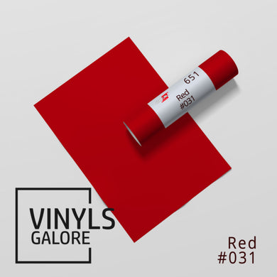 #031 - Red - Oracal 651 - VinylsGalore