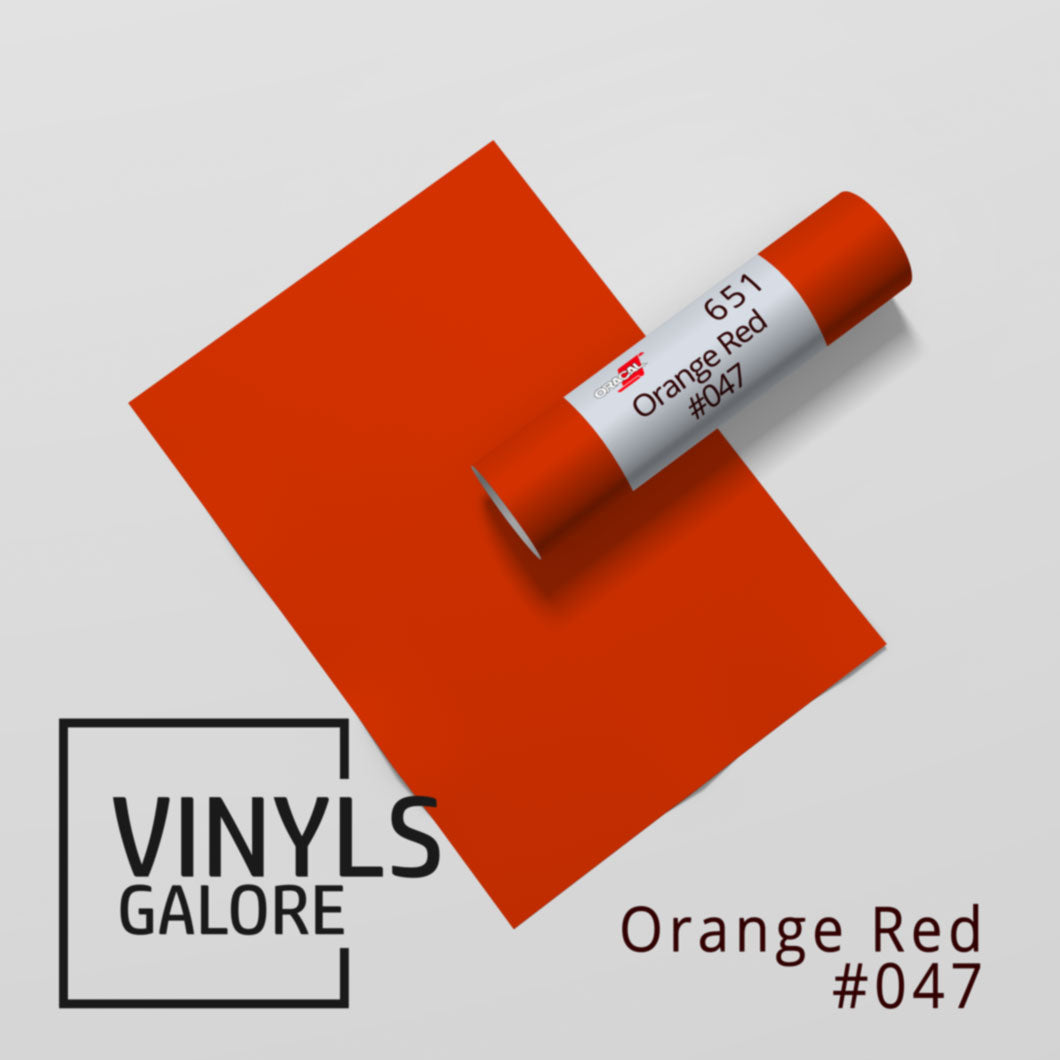 #047 - Orange Red - Oracal 651 - VinylsGalore