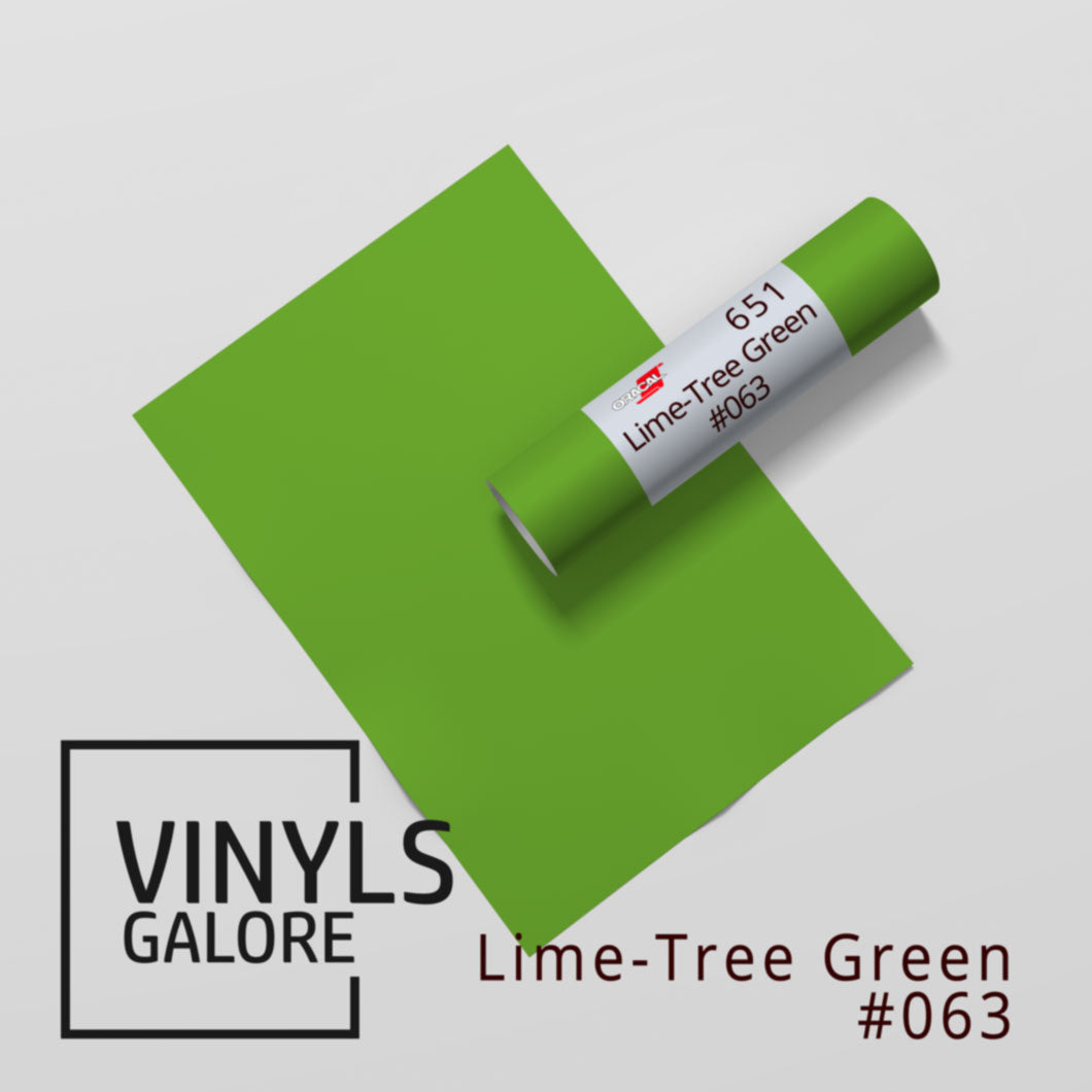 #063 - Lime-Tree Green - Oracal 651 - VinylsGalore