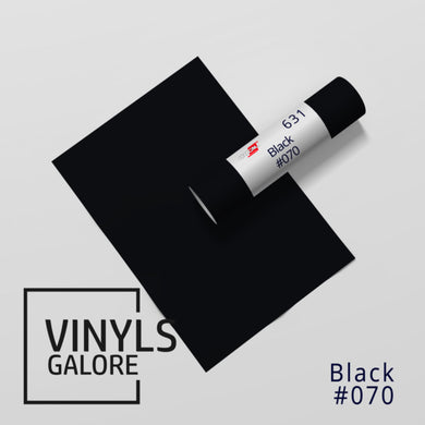 #070 - Black - Oracal 631 - VinylsGalore