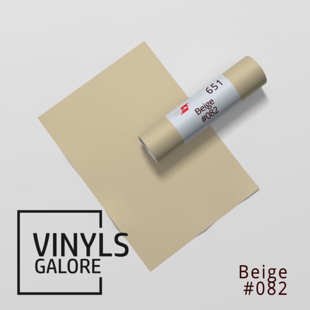 #082 - Beige - Oracal 651 - VinylsGalore