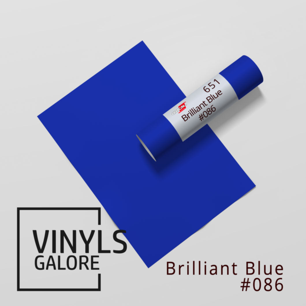 #086 - Brilliant Blue - Oracal 651 - VinylsGalore