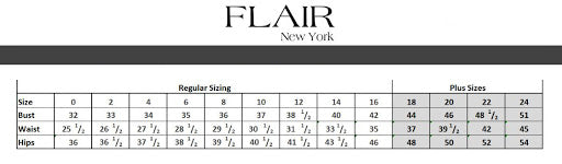 Flair size chart