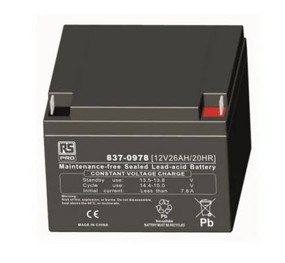 12V 26Ah Sealed Lead Acid Battery