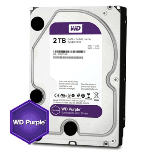 2TB WD PURPLE HARDDRIVE (HDD for CCTV)